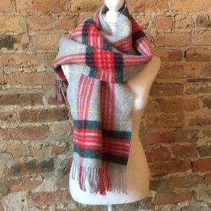 J Crew wool and acrylic reversible scarf